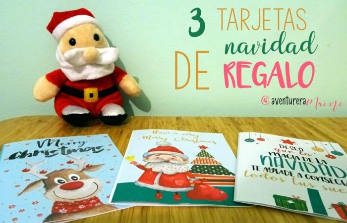 tarjetas navidad regalo cartel